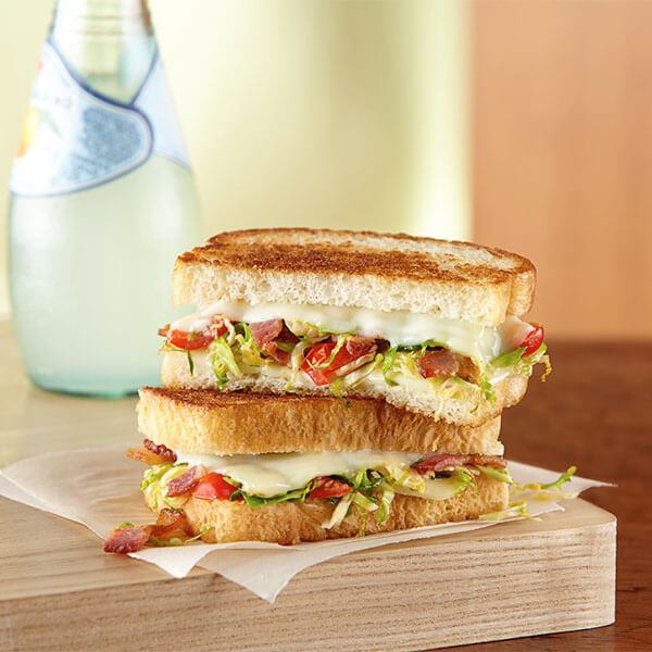 Brussels Sprouts & Bacon Grilled Cheese