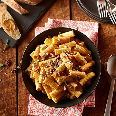 Pumpkin Spice Cream Sauce with Rigatoni