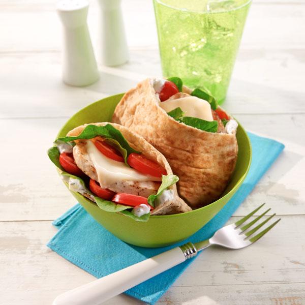 Greek Turkey Mini Pita Sandwich Recipe