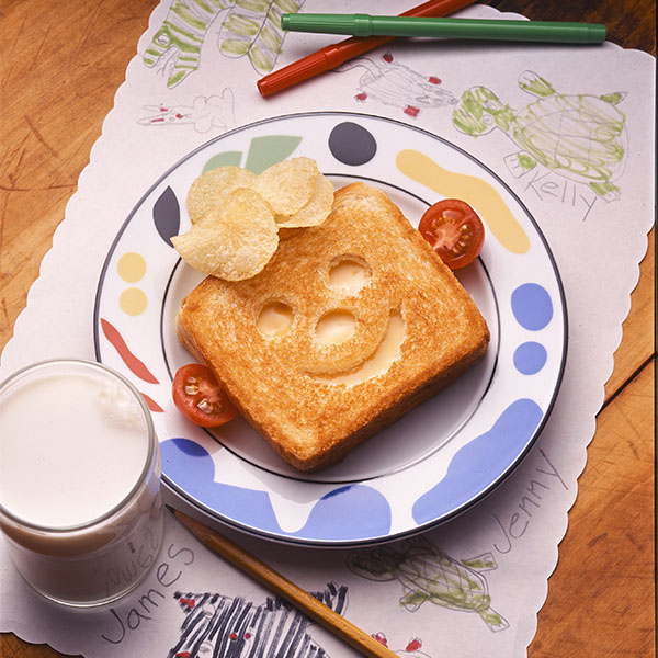 Funny Face Grilled Cheese Image