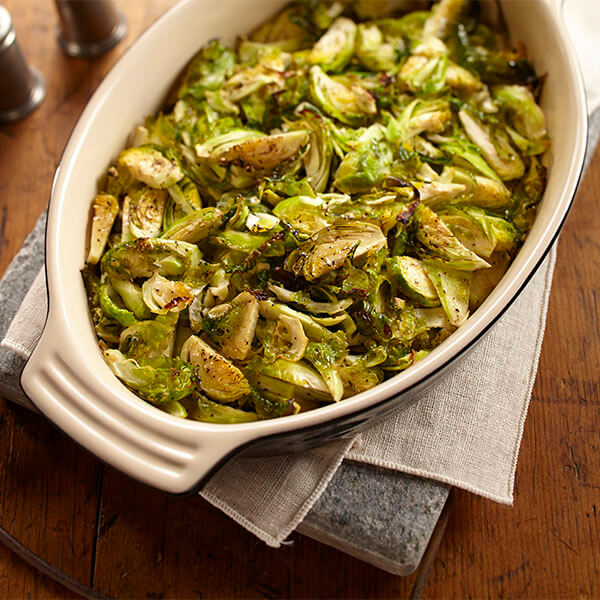 Lemon Pepper Roasted Brussels Sprouts Image