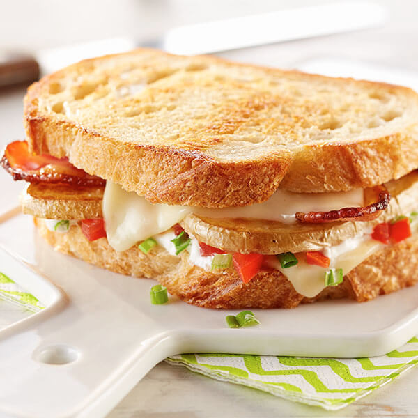 Loaded Baked Potato Grilled Cheese