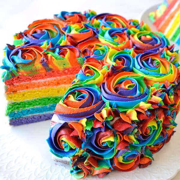 Magnificent Rainbow Cake Recipe Land Olakes Funny Birthday Cards Online Fluifree Goldxyz