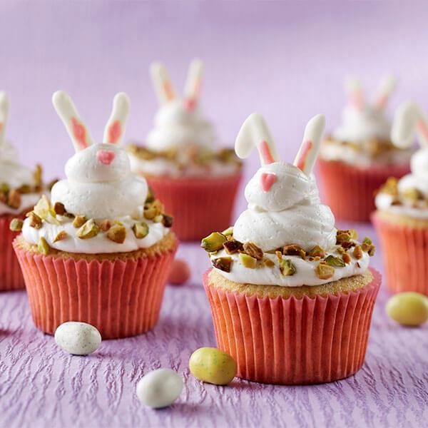 Spring Bunny Pistachio Cupcakes
