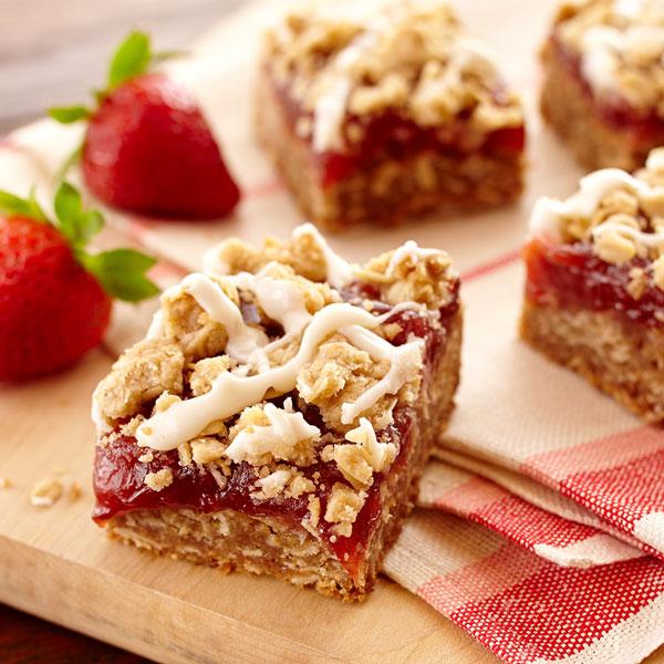 Strawberry Rhubarb Dessert Bars Recipe