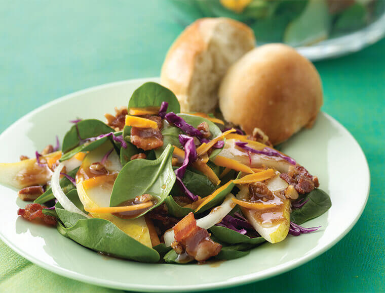 Autumn Salad With Maple Balsamic Dressing Recipe Land O Lakes