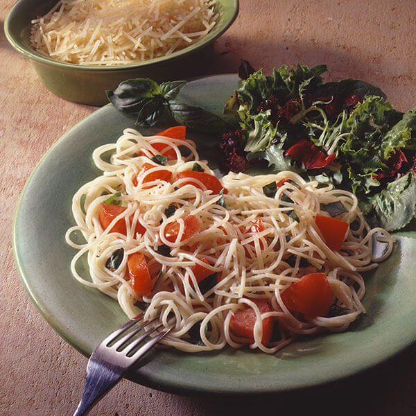 Angel Hair Pasta With Basil & Tomatoes Image