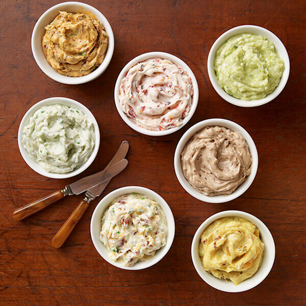 Assorted Savory Butters Recipes Image