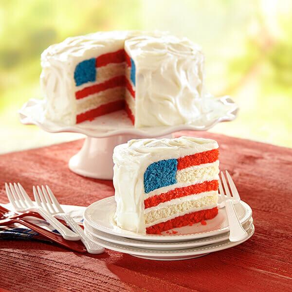 American Flag Cake Image