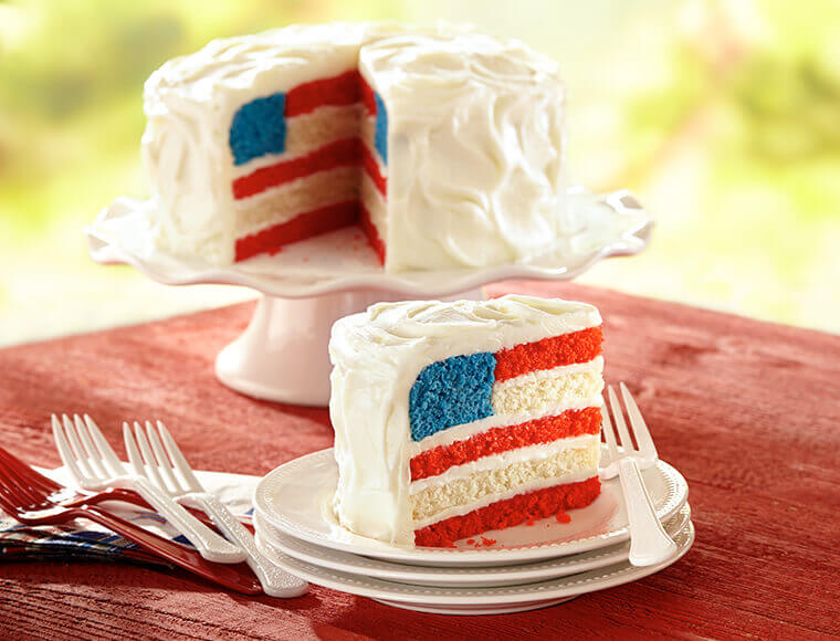 American Flag Cake Recipe   Land O'Lakes