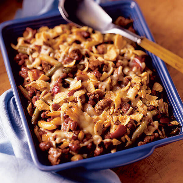 Barbecue Beef & Bean Casserole Image