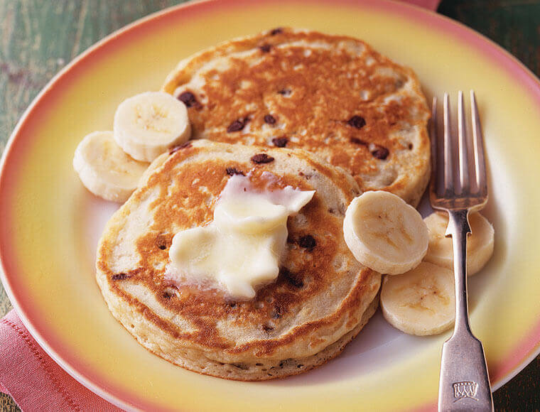 Banana Chocolate Chip Pancakes Recipe Land O Lakes