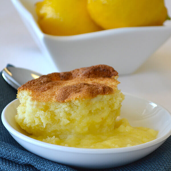 Baked Lemon Pudding Cake Image