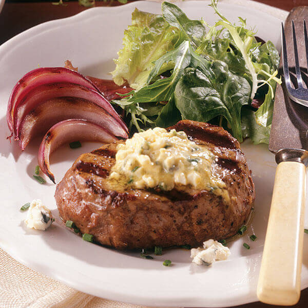 Beef Tenderloin With Blue Cheese Image