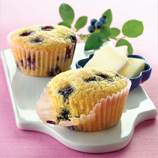 Blueberry Cornmeal Muffins Image