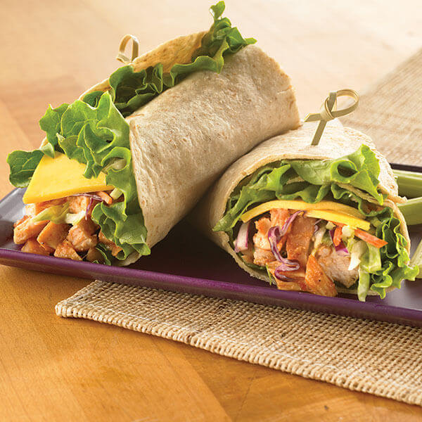 Barbecue Chicken & Coleslaw Wrap Image