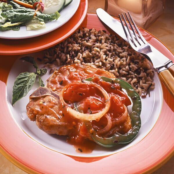 Basil Tomato Pork Chop Recipe