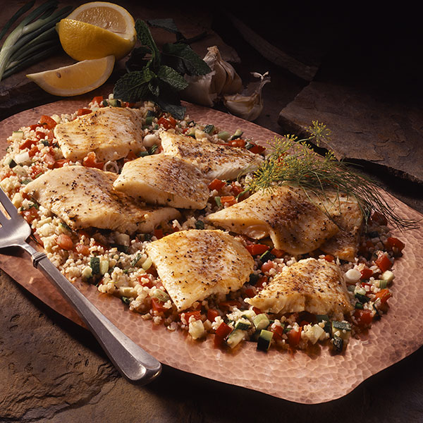 Broiled Walleye With Dill Tabbouleh Image