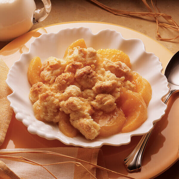 Busy Day Peach Cobbler Image