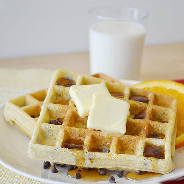 Best Ever Chocolate Chip Waffles Image