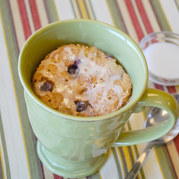 Blueberry Muffin Mug Cake Image
