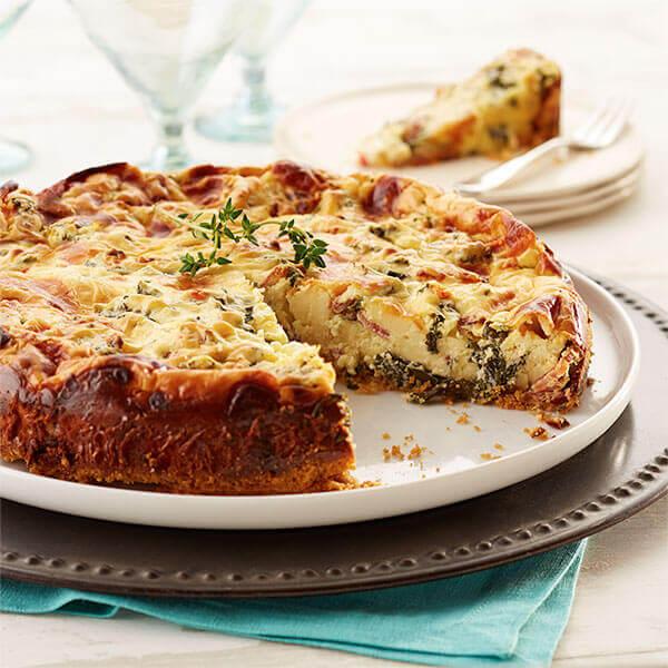 Bacon & Kale Savory Cheesecake Image