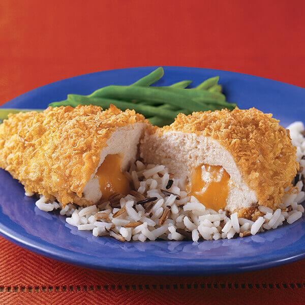 Crunchy Cheese Stuffed Chicken Recipe Land O Lakes