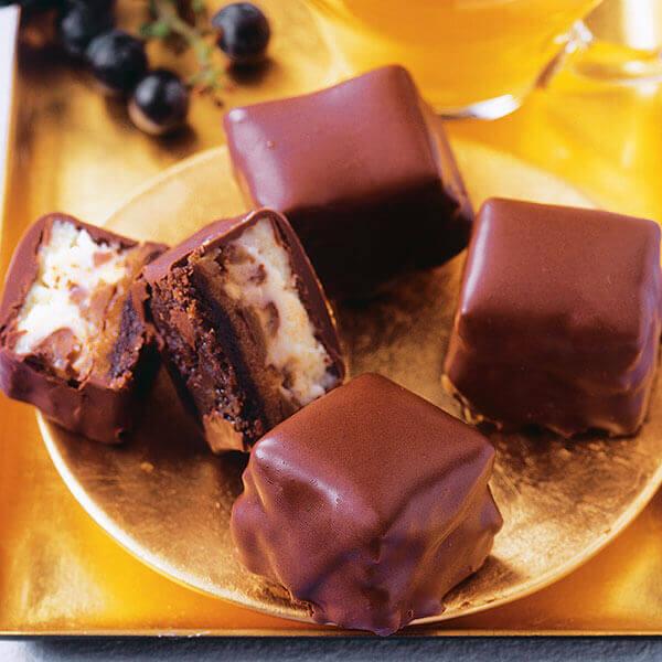 Chocolate Caramel Cheesecake Bites Image