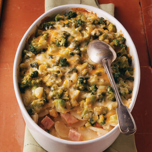 Cheesy Scalloped Potatoes & Ham Image
