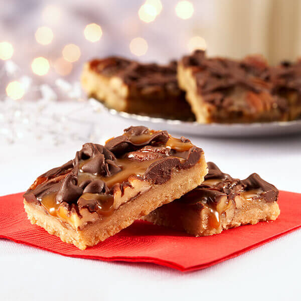 Caramel 'N Chocolate Pecan Bars Image