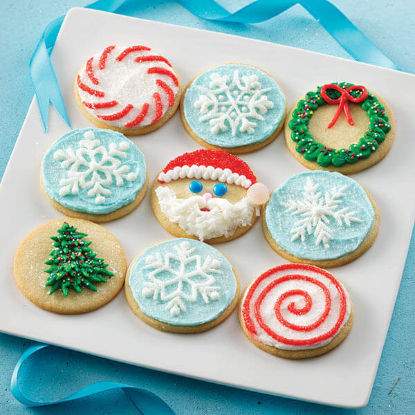 Christmas Circle Cut-Out Cookies Recipe