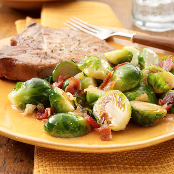 Caramelized Onion & Bacon Brussels Sprouts Image
