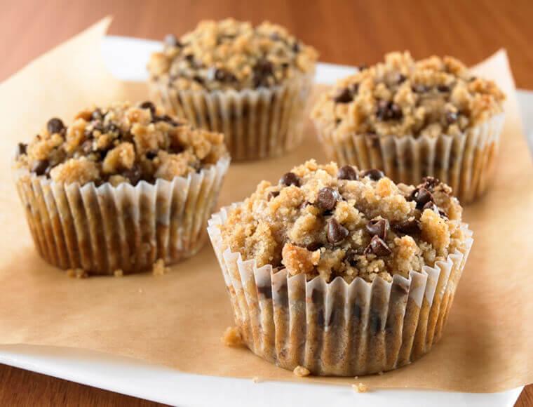 Chocolate Banana Streusel Muffins Recipe Land O Lakes