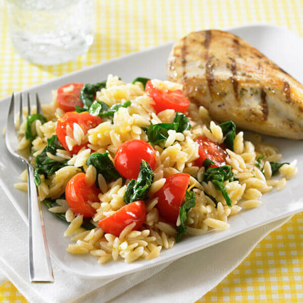 Creamy Orzo With Spinach Image