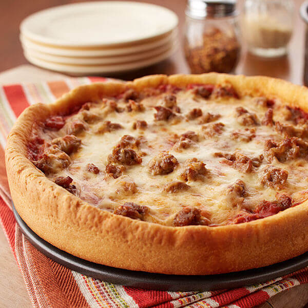 Chicago-Style Deep-Dish Pizza Image