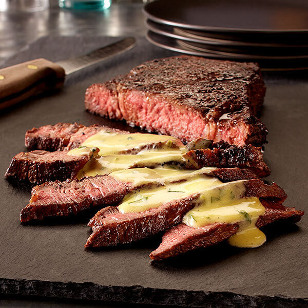 Chile Seared Steak With Cilantro Lime Hollandaise Sauce Recipe Land O Lakes