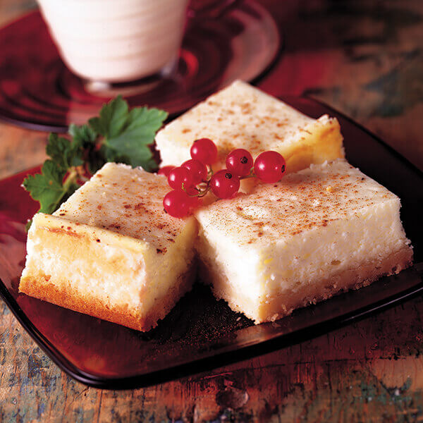 Eggnog Cheesecake Bars Image