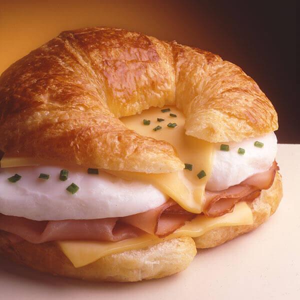 Egg & Ham Topped Croissant Image