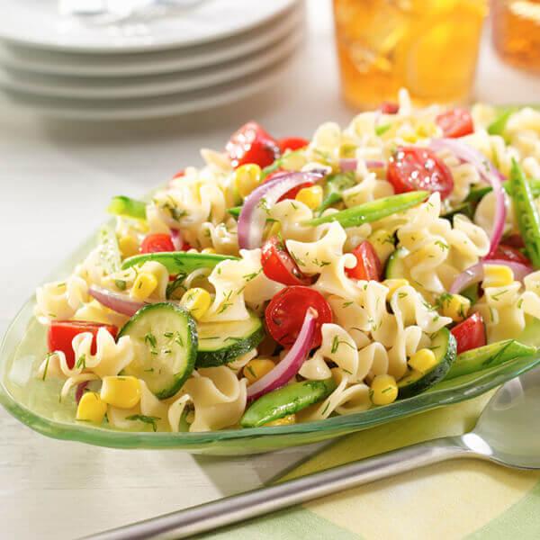 Fresh Garden Pasta Salad with Dill Vinaigrette Image