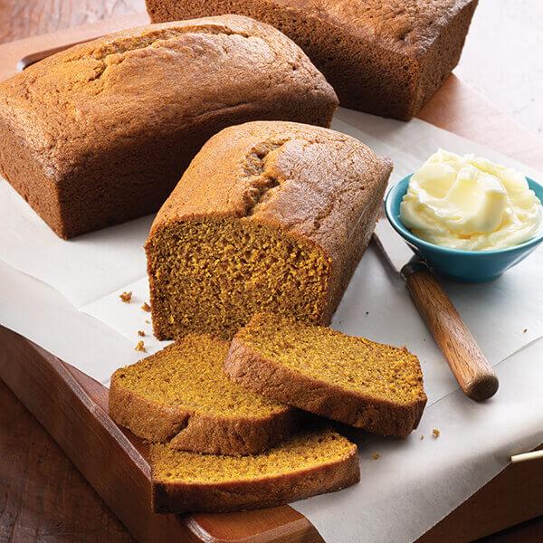 Golden Pumpkin Bread Image