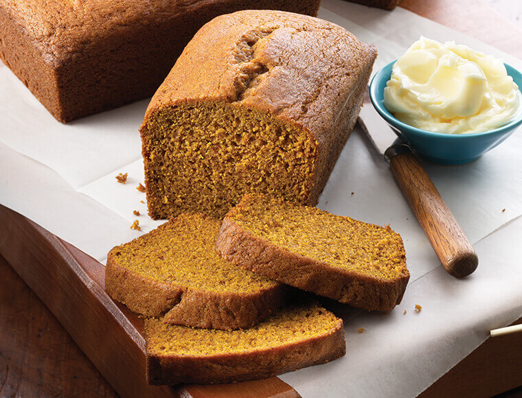 Golden Pumpkin Bread Recipe Land O Lakes