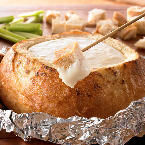Grilled 3-Cheese Fondue Bread Bowl Image