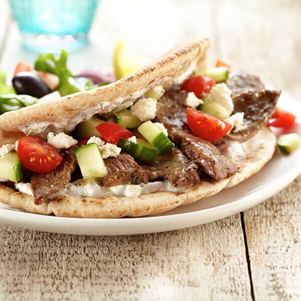 Greek Lamb Pita with Tzatziki Sauce Image