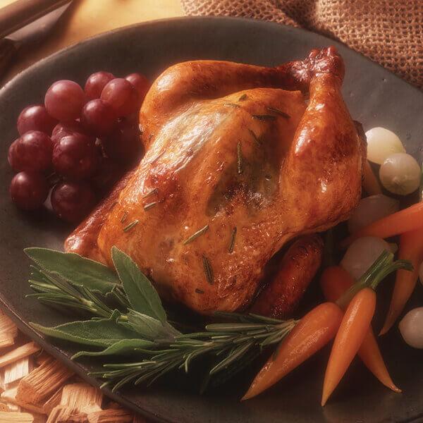 Herbed Hickory-Smoked Cornish Hens Image