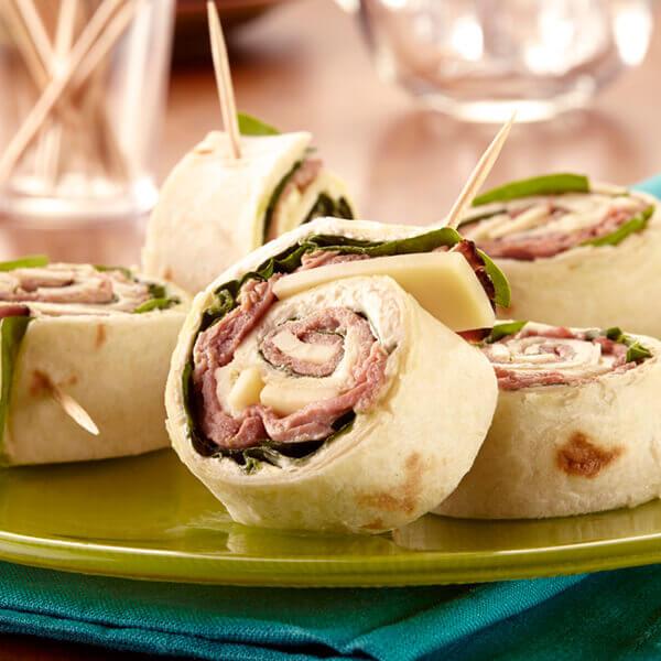 Horseradish Roast Beef Roll-Ups