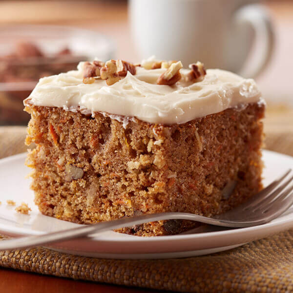 Homemade Carrot Cake With Cream Cheese Frosting Recipe Land O Lakes