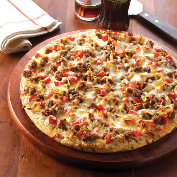 Hamburger & Caramelized Onion Pizza Image