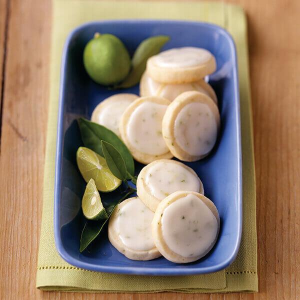Key Lime Shortbread Cookies Image