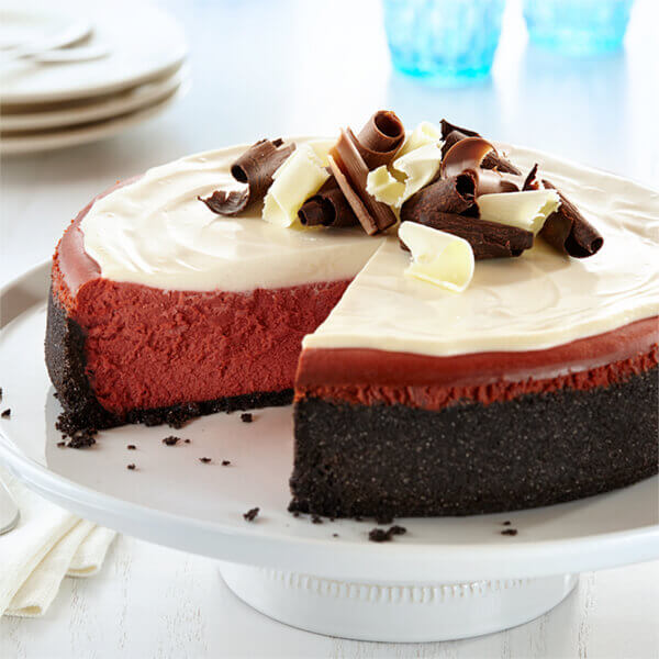 new york style red velvet cheesecake