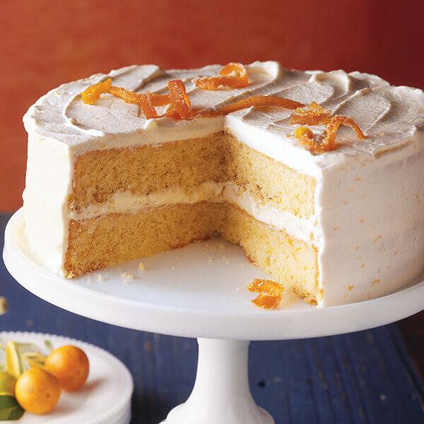 Orange Cream Layer Cake Image